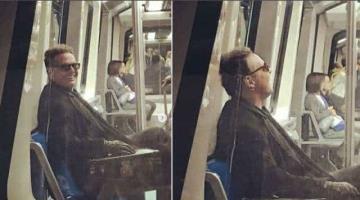 Captan a Luis Miguel en el metro en Madrid