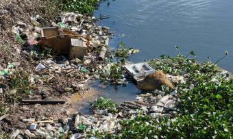 Gigantesca mancha de basura invade el río Viejo Mezcalapa