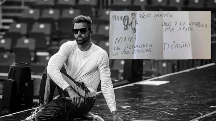 Niño manda conmovedora carta a Ricky Martin; su madre tiene cáncer