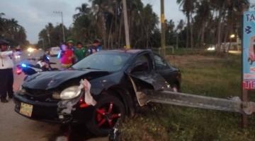 Termina persecución policial en accidente vial en Paraíso