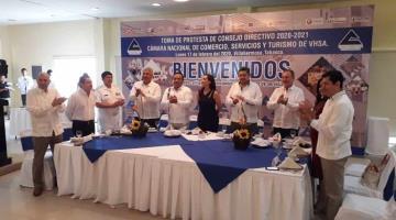 Rinde protesta Consejo Directivo 2020-2021 de la Canaco Villahermosa
