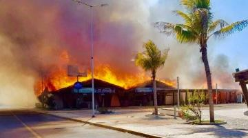 Se incendia Plaza Madero en Tapachula Chiapas