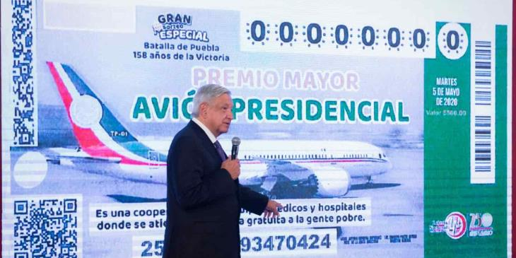 A finales de febrero estarían listos los boletos para la rifa del avión presidencial