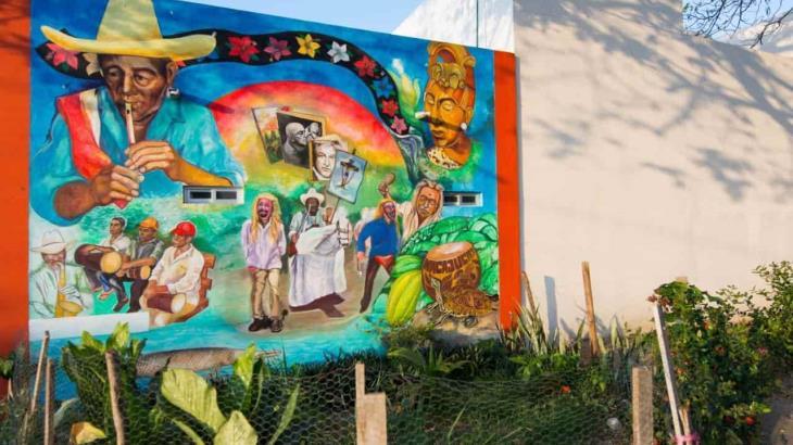 Plasman nuestros orígenes y tradiciones en maravilloso mural en Pomoca, Nacajuca.