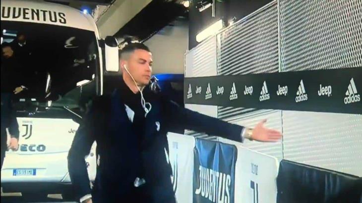 El partido de la Juventus fue a puerta cerrada y así llegó Cristiano Ronaldo
