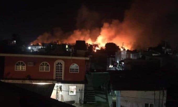 Se registra incendio en la zona pantanosa de la Miguel Hidalgo; solamente ocasionó daños ambientales