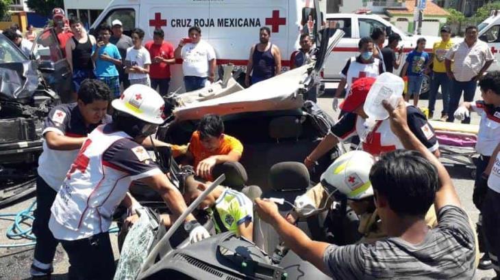 Fuerte accidente en Río Viejo deja como saldo cuatro heridos
