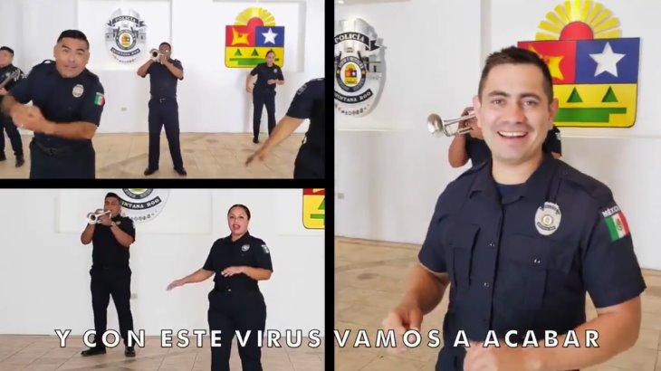 Lanza Policía de Quintana Roo campaña de prevención contra el Covid-19