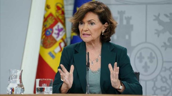 Confirman coronavirus de vicepresidenta de España