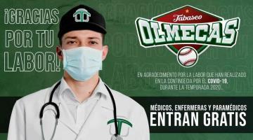 Los Olmecas darán entradas gratis al personal médico durante la temporada 2020