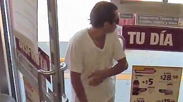 Asaltan tienda de conveniencia en Indeco; detectan cámaras al presunto ladrón