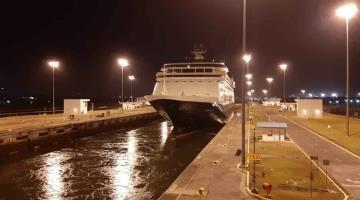 Cruzan cruceros afectados por coronavirus el canal de Panamá