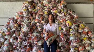Diputada federal por Nayarit compra mil despensas para repartirlas a quienes viven al día en Tepic