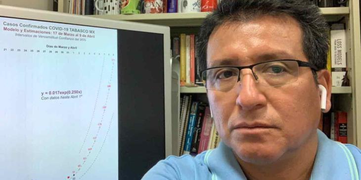 Crecería hasta 700% casos de coronavirus en Tabasco, si población no respeta cuarentena, advierte investigador de la UJAT