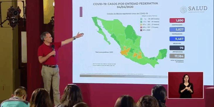 Suma México en 24 horas 19 decesos por coronavirus; en total hay 79, reporta Salud