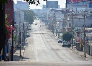 Así lucen las calles de Villahermosa esta mañana