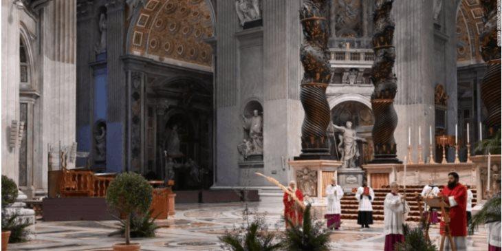 Inicia el Papa Francisco la Semana Santa sin presencia de fieles por covid-19