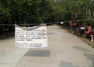 Habitantes de Tacotalpa restringen paso en Cerro Blanco como prevención ante el Covid-19