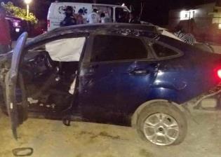 Se registra aparatoso accidente automovilístico en la vía a Dos Bocas; no hubo heridos
