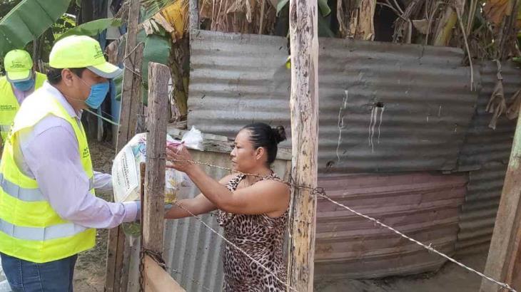 Entrega Gobierno más de 3 mil despensas en Nacajuca del programa Apoyo Alimentario por emergencia del COVID-19