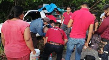 Se registra accidente sobre la carretera Frontera - Ciudad del Carmen