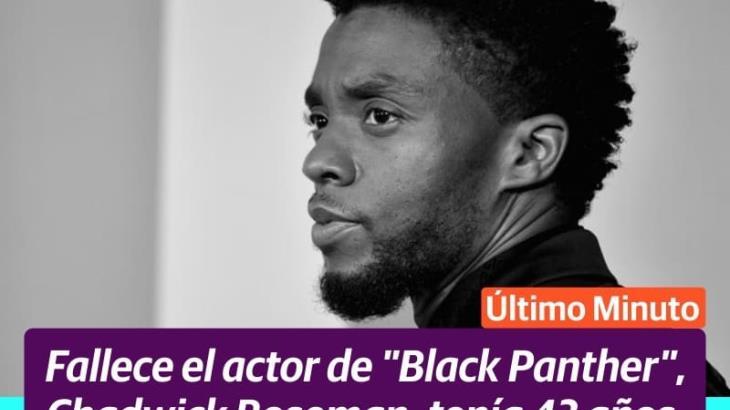 Muere Chadwick Boseman, protagonista de Black Panther a los 43 años