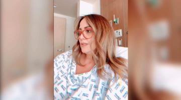 Hospitalizan a Andrea Legarreta; desarrolló neumonía por covid