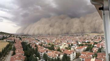 Tormenta de arena deja seis heridos en Turquía