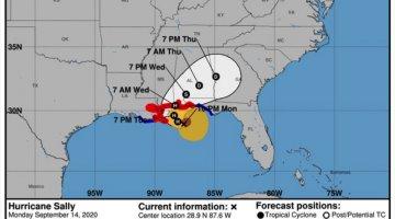 "Ordenan a residentes de Luisiana y Misisipi evacuar ante llegada del huracán ""Sally"""