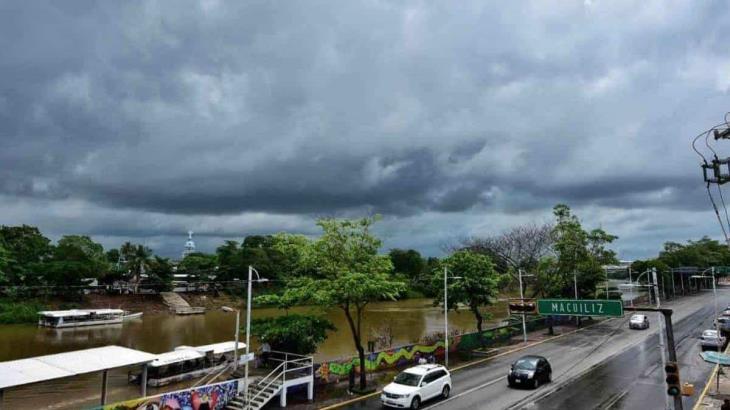 Prevé CONAGUA lluvias vespertinas para este miércoles en Tabasco