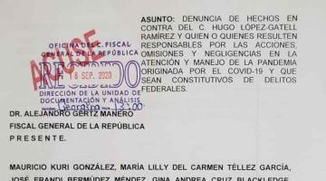 Senadores del PAN vuelven a denunciar a López-Gatell ante FGR por su manejo de la pandemia