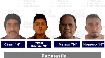 Aprehenden a 5 hombres por presuntos delitos sexuales en Tabasco