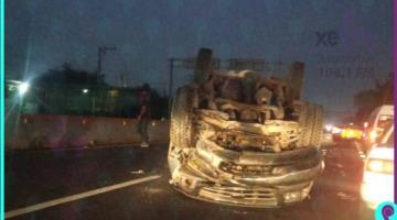 Se registra accidente automovilístico en la Villahermosa–Frontera