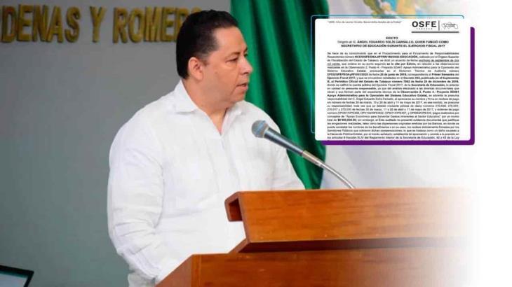 Va OSFE por ex secretario de educación del gobierno Nuñista