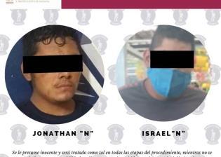 Detienen a dos hombres señalados como presuntos responsables de robo