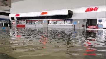 Reubica ADO su centro de operaciones ante inundación de su sede en Arboledas