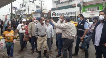 Descarta gobernador aplicar programa de apoyo emergente a comerciantes inundados