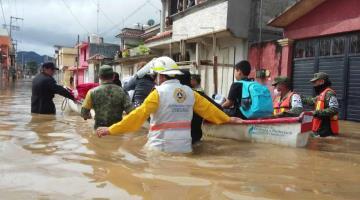 Reporta Protección Civil de Chiapas 19 fallecidos tras inundaciones; 10 fueron arrastrados por la corriente