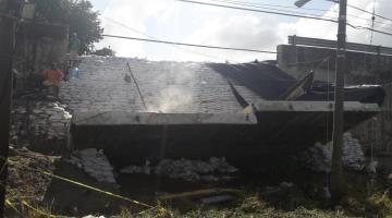 """Demolición del muro colapsado del puente """"La Pigua"""", podría concluir la próxima semana"""