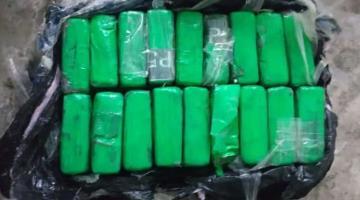 Encuentra Guardia Nacional 20 kilos de cocaína en una bolsa en Puerto Morelos