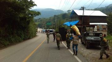 Evacúan a 460 familias de Ixhuatán, Chiapas ante alerta de deslizamiento de ladera y desbordamiento de río