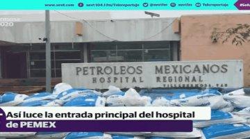 Analizan posible cambio de sede del hospital regional de Pemex de Villahermosa tras sufrir anegaciones