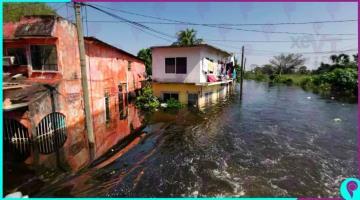 Reporta Conagua 7 ríos por arriba de su nivel de desbordamiento