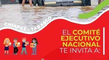 Habilita PRI centros de acopio en sus 32 comités estatales para apoyar a las familias de Tabasco y Chiapas