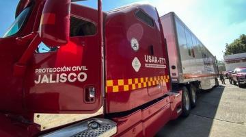 Envía Jalisco 35 elementos de Protección Civil para ayudar a Tabasco y Chiapas en las labores de rescate