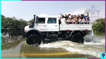 Cierran paso en la Majahua, activa gobierno unidades para transportar personas