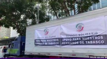 Envía Senado 42 toneladas de ayuda humanitaria para damnificados de  Tabasco y Chiapas
