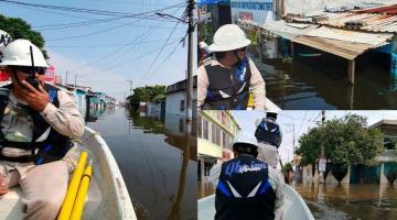 Suspende CFE suministro de energía eléctrica a más 3 mil usuarios de Tabasco y Chiapas por inundaciones y deslaves