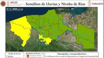 Pronostican lluvias muy fuertes para Tabasco durante 4 días