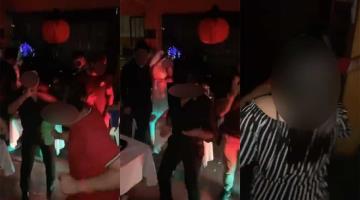 """Festejan """"Halloween"""" en Villahermosa y se olvidan de las medidas sanitarias contra el Covid"""